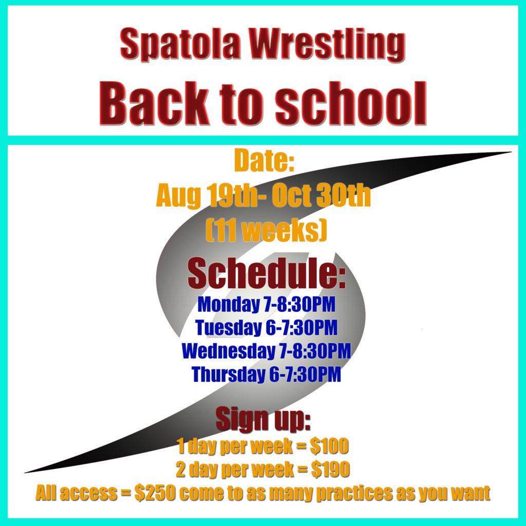 Spatola Wrestling | Wrestling tournaments, clinics, coaching